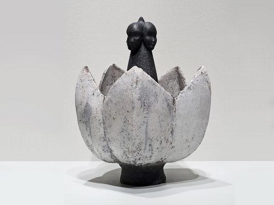 Lotus, 2014, Kermik - Raku, Höhe: 30 cm