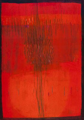Rot, 2011, Acryl auf Leinwand, 80 x 120 cm