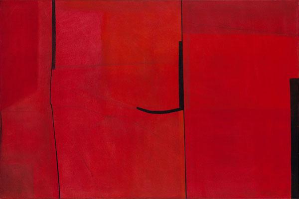 Rot, 2009, Öl auf Papier, 70 x 50 cm
