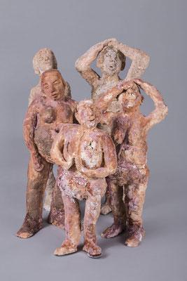 Bewegte Gruppe, Keramik 1060°, H bis 70 cm