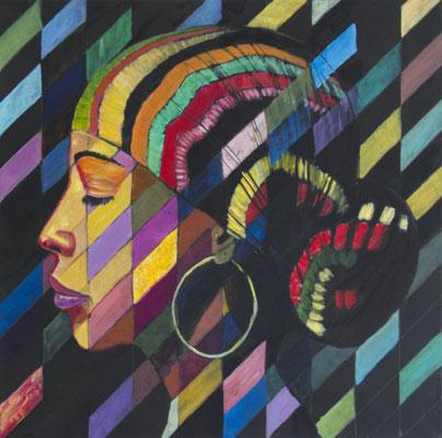 Nancy 2, 2020, Acryl auf Leinwand, 60 x 60 cm