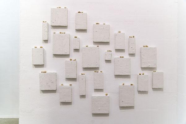 Verbindung, 2019, Assemblage/Installation, B 150 x H 150 x T 4 cm