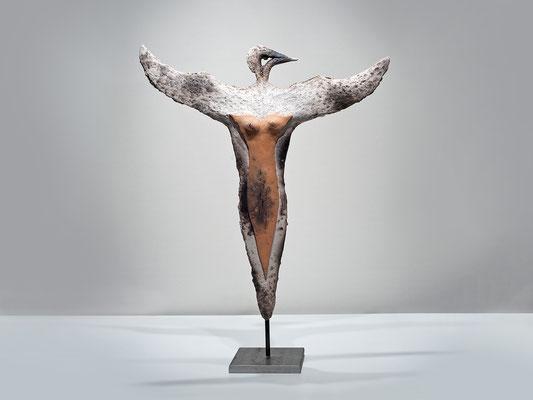 Vogelfrau, 2014, Keramik, Höhe: 54 cm