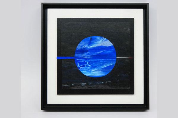 Sommernachtstraum 3, 2018, Collage, Malerei auf Papier, 30 x 30 cm