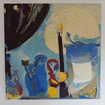 """Mythologisches Rätsel"", 2019, Eitempera auf Leinwand, 100x100 cm"