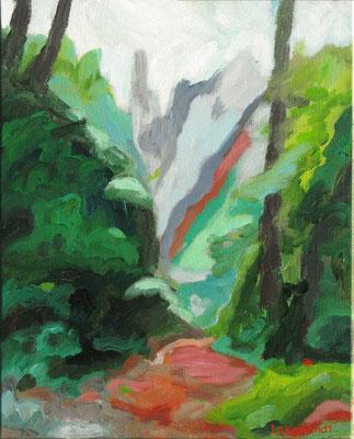 4734 Lautertal, 2018,  Hinterglasmalerei, 60x80 cm