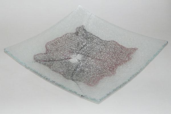 """Schale """"Gesprengte Fesseln"""", Fusing, 30 x 30 cm"""