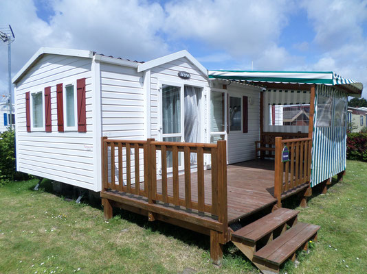 terrasses du lys mobil home camping terrasse couverte bache coloris, baie somme achat vente