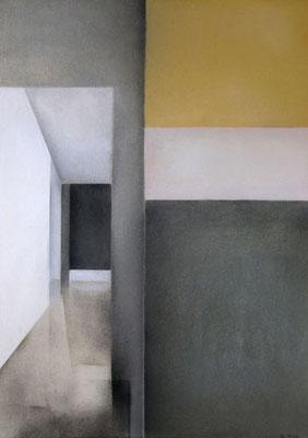III Raum, 2013, 70cm x 100cm, Pastell auf Finnpapppe