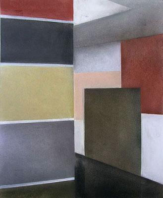 VI Raum, 2013, 40cm x 50cm, Pastell auf Finnpappe