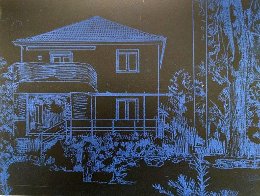 Zeichnung auf der Druckplatte