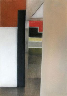 I Raum, 2013,  70cm x 100cm, Pastell auf Finnpappe