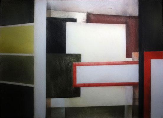 VIII Raum, 2013, 50cm x 40cm, Pastell auf Finnpappe