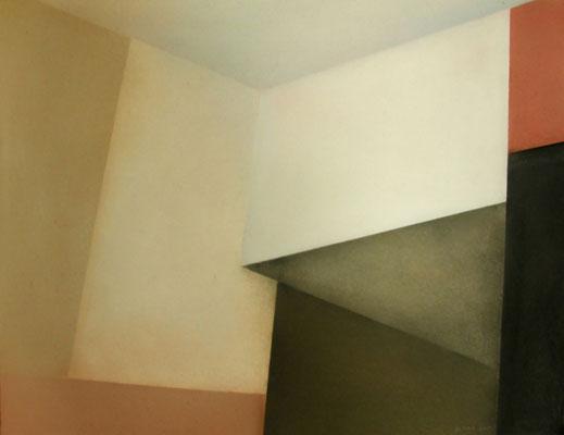 V Raum, 2013,  90cm x 70cm, Pastell auf Finnpappe