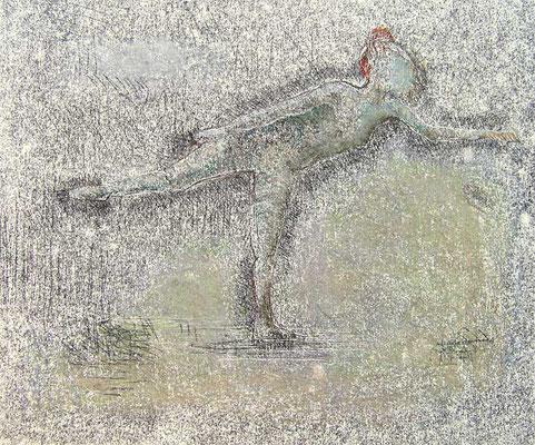 Tänzerin, 2009, 42cm x 30cm, Monotypie und Pastell