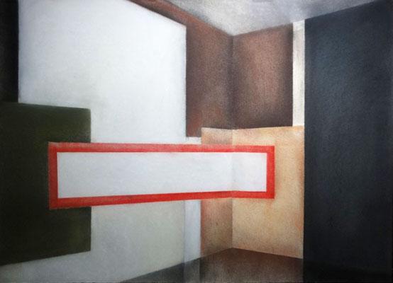 VII Raum, 2013, 50cm x 40cm, Pastell auf Finnpappe