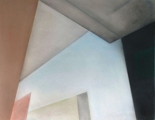 IV Raum, 2013, 90cm x 70cm, Pastell auf Finnpappe