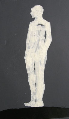 Stehende Figur, 2012, 30cm x 42cm, Tape