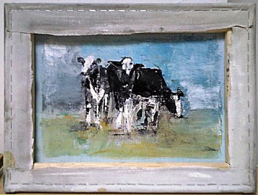 Kühe, Öl auf Leinwand