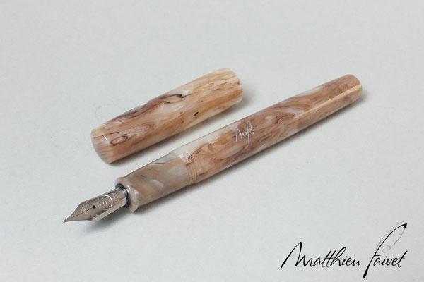 Lucite Italienne imitation Marbre, plume Bock acier
