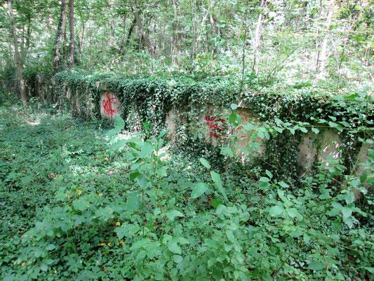 quai ferrovière allemand construit pour le Baukommando Becker en forêt à Maisons-Laffitte