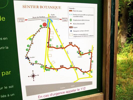 Plan des implantations de batiments militaires construits pour approvisionner le Baukommando Becker à Maisons-Laffitte