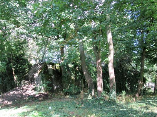 Bunker construits pour la protection du Baukommando Becker dans le parc de Maisons-Laffitte