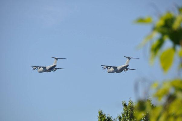 Deux A400M, avions cargo de l'armée de l'air française