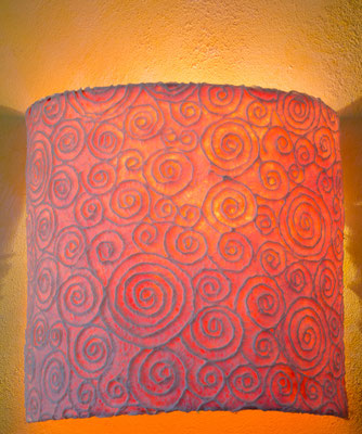 Wandspiral Lampe