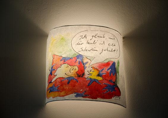 Peter Gagmans Hühner Lampe