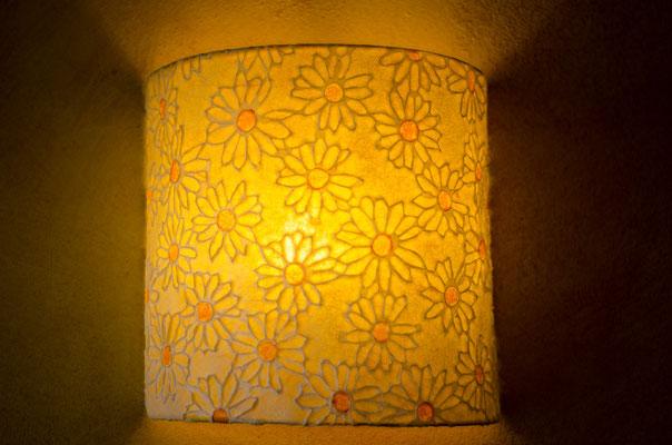 Wandlampe Sonnenblume