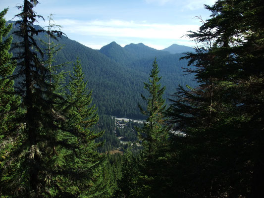 View down to Longmire