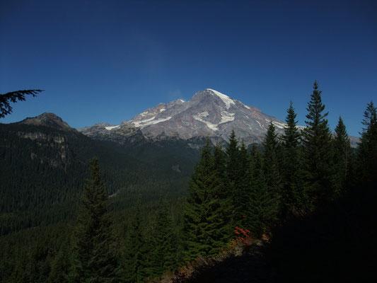 Distant view to Mt Rainier