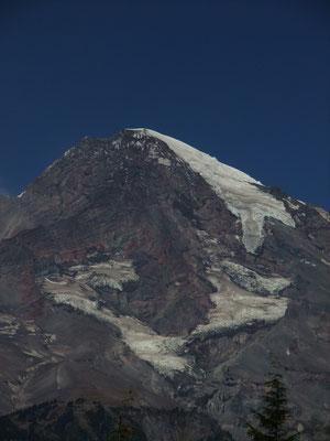 Closer view of one of Mt. Rainier's peaks