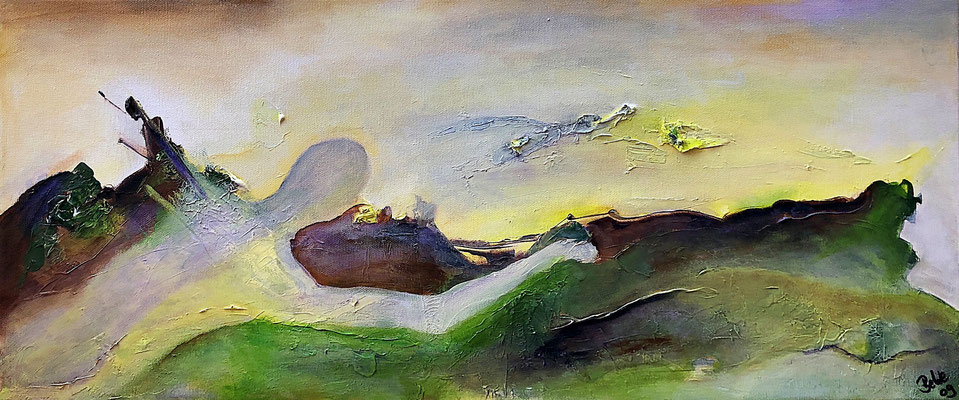 """""""Two Worlds"""" 2009 - 30 x 70 cm"""