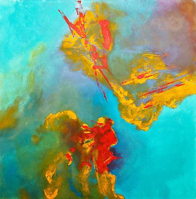 """""""von oben 2"""" 2013 - 80 x 80 cm"""