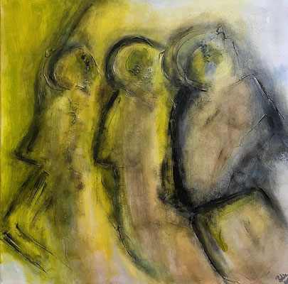 """3 Seher"" 2010 - 60 x 60 cm"