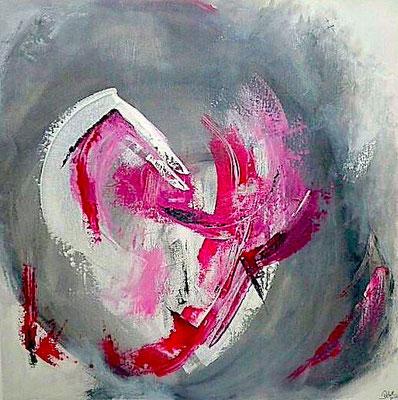 """""""Verbotene Gefühle"""" 2011 - 100 x 100 cm (verkauft)"""