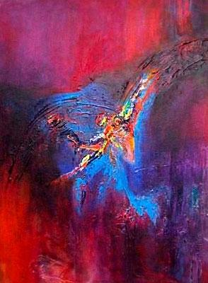 """""""Vogelfreiheit"""" 2008 - 60 x 80 cm (verkauft)"""