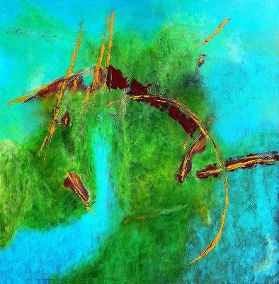 """Satellitenblick"" 2011 - 100 x 100 cm"