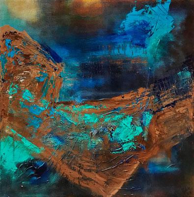 """""""Herbstschlaf"""" 2009 - 50 x 50 cm"""