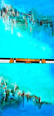 """""""Wasserwelten"""" 2010 - 60 x 120 cm (verkauft)"""