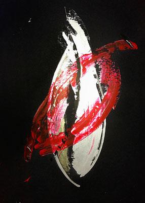 """""""Quellverschiebung"""" 2009 - 50 x 70 cm (Acryl auf Karton)"""