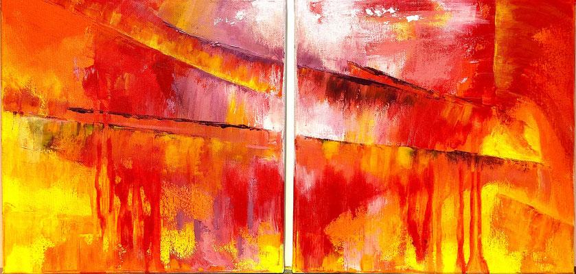 """""""Weg nach innen"""" 2018 - 60 x 30 cm (Duo)"""
