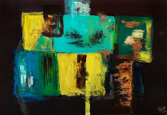 """Organisierte Versuchung"" 2009 - 50 x 70 cm (Acryl auf Karton)"
