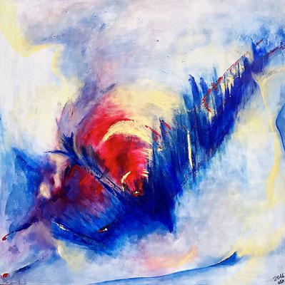 """""""Beginn"""" 2017 - 100 x 100 cm (verkauft)"""