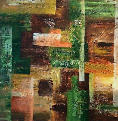 """""""Orientierung im Wald"""" 2007 - 60 x 60 cm (verkauft)"""
