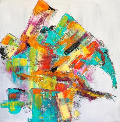 """""""Gedankengerüst"""" 2017 - 40 x 40 cm"""