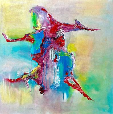 """""""Tänzer"""" 2017 - 80 x 80 cm"""