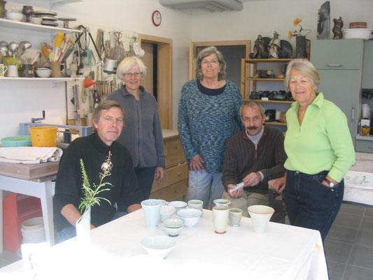 with Ursula Fattorini + Fritz Roßmann (centre)
